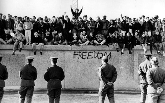 In November 1989, a political tsunami toppled the wall